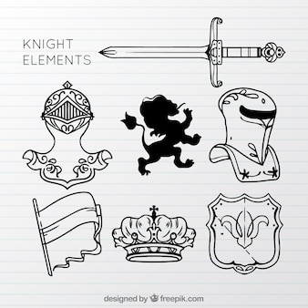Medieval pack with hand drawn style