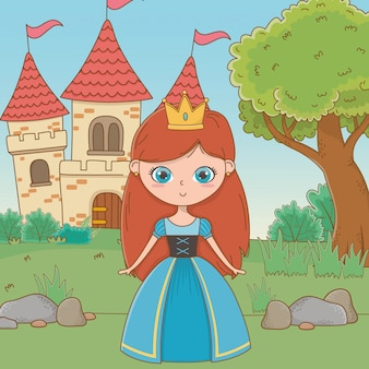 Medieval princess cartoon