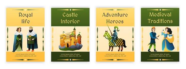 Medieval set illustrations