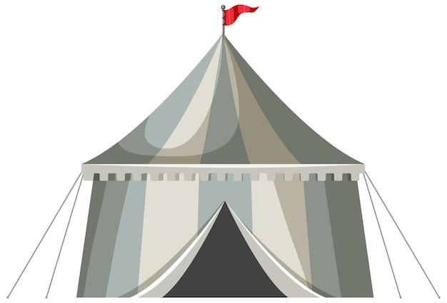 중세 줄무늬 파빌리온 텐트 절연