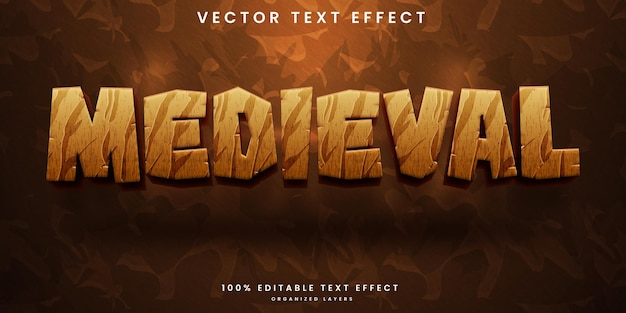 Medieval time editable text effect