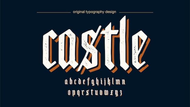 Средневековая белая типография гранж