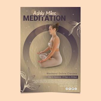 瞑想とマインドフルネスクラスのポスター