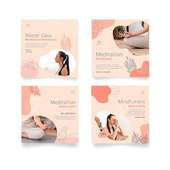瞑想とマインドフルネスのインスタグラムの投稿