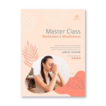 瞑想とマインドフルネスの縦型チラシ