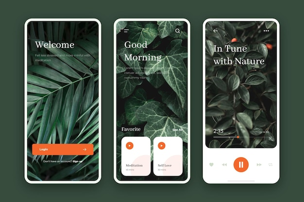 Meditation app collection template