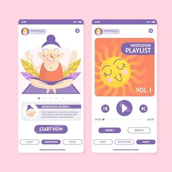 Meditation app interface