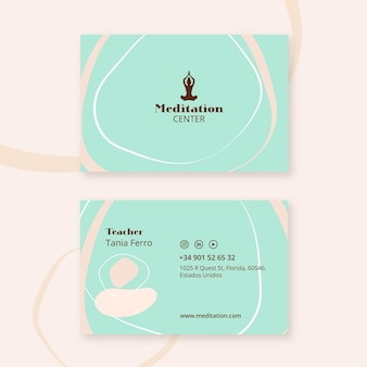 Meditation business card