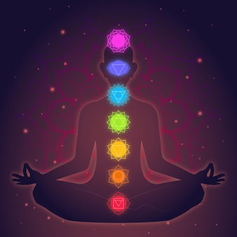 Meditation and chakras concept