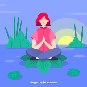 Meditation concept background