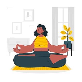 Illustrazione di concetto di meditazione