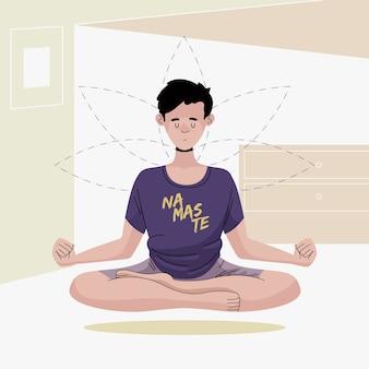 Meditation concept illustration