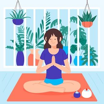 Иллюстрация концепции медитации