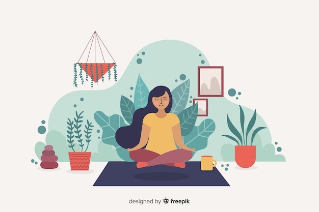 Meditation concept for landing page