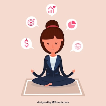 Meditation concept with woman