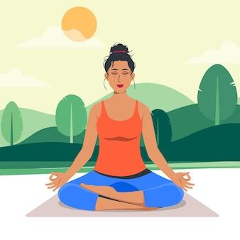Meditation concept