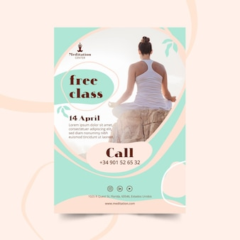 Meditation flyer template theme