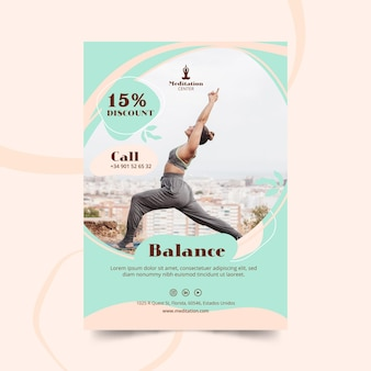 Meditation flyer template