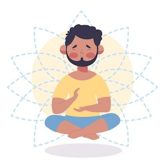 Meditation illustration concept