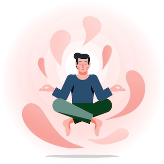 Meditation illustration concept