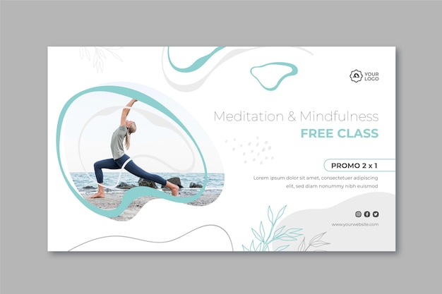 Meditation & mindfulness banner template
