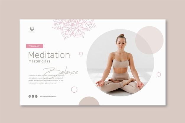 Meditation and mindfulness banner