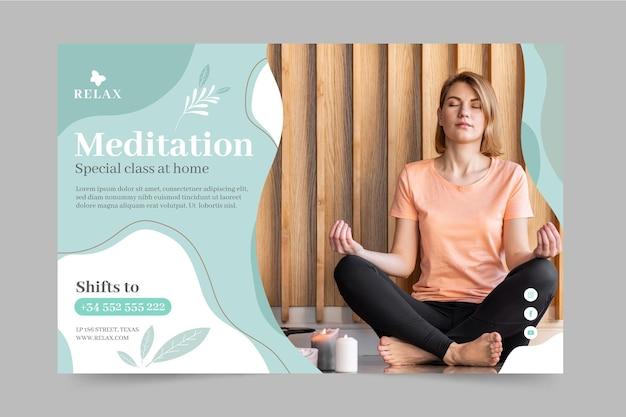 Banner di meditazione e consapevolezza