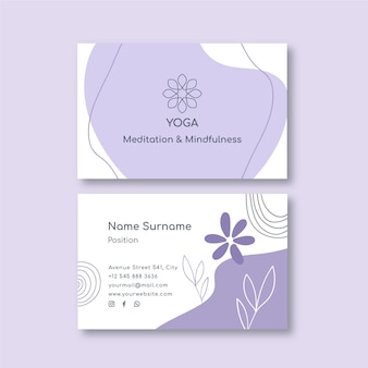 Meditation and mindfulness business card template
