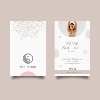 Meditation and mindfulness double-sided business card