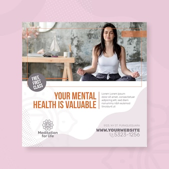 Meditation & mindfulness flyer square