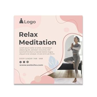 Meditation and mindfulness flyer square