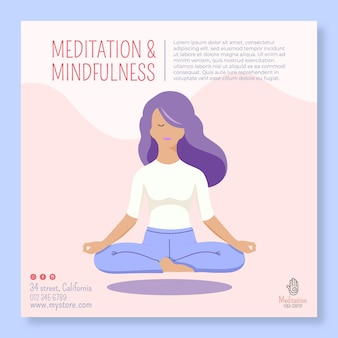 Meditation and mindfulness flyer