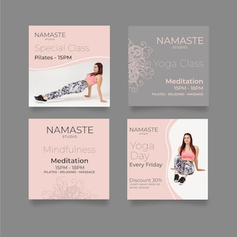 Meditation & mindfulness instagram posts template