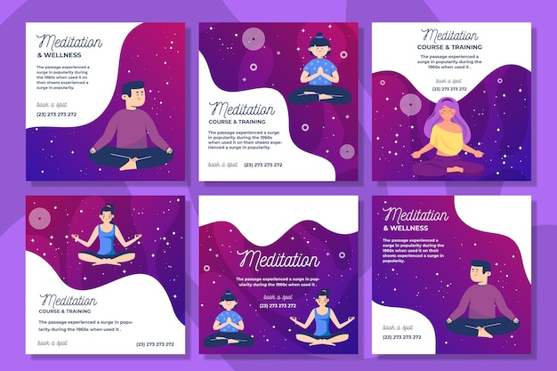Meditation and mindfulness instagram posts