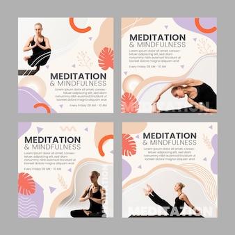 Post di instagram di meditazione e consapevolezza