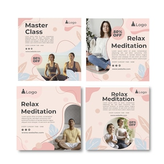 Post instagram di meditazione e consapevolezza