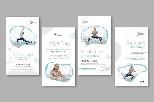 Meditation & mindfulness instagram stories template