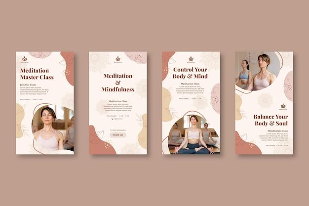 Meditation and mindfulness instagram stories