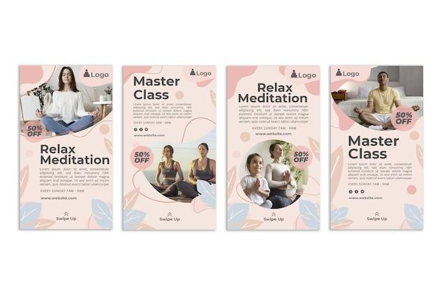 Storie di instagram di meditazione e consapevolezza