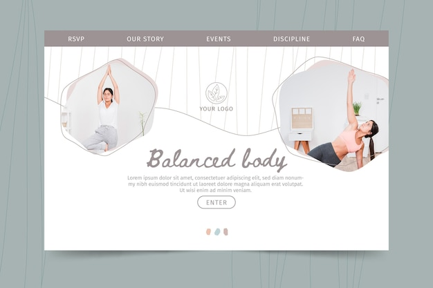 Meditation and mindfulness landing page template