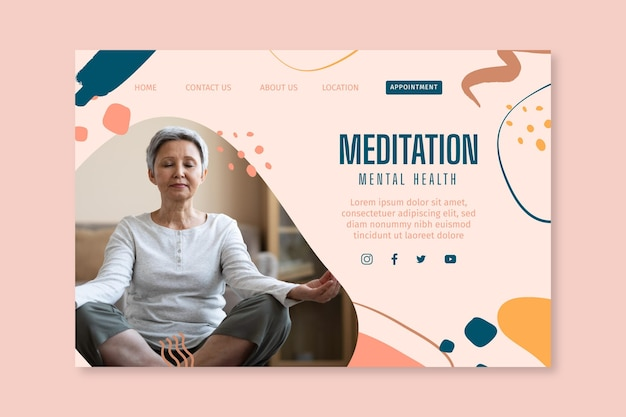 Meditation and mindfulness landing page
