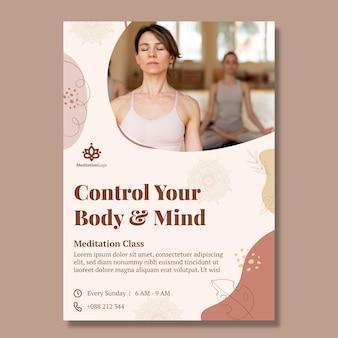 Meditation and mindfulness poster