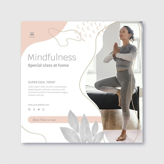 Meditation and mindfulness squared flyer