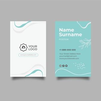 Meditation & mindfulness vertical business card template