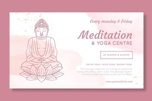 Meditation and yoga center banner