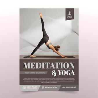 Modello di volantino di meditazione e yoga