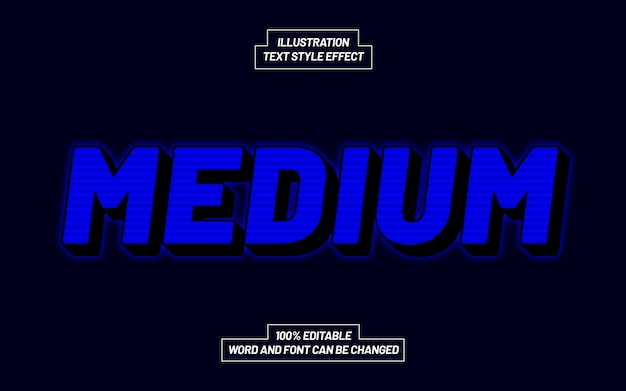 Medium text style effect