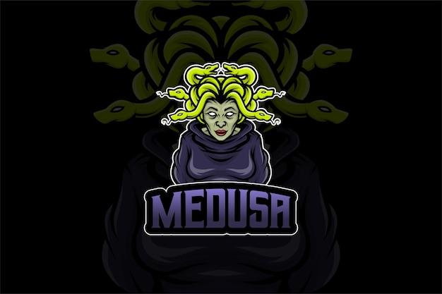 Шаблон логотипа medusa- esport