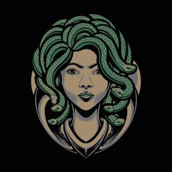 The medusa head illustration
