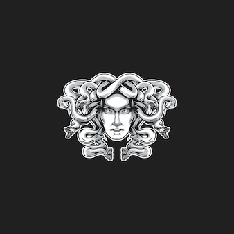 Medusa head vector illustration